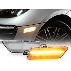 2014-2019 Porsche Macan USR LED Clear OR Smoke Front Amber LED Bumper Side Marker Light