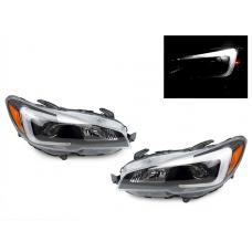2015-2019 Subaru WRX / WRX STi DEPO Black Housing Projector Headlight for with Factory Halogen Models