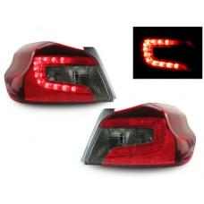 2015-2019 Subaru WRX DEPO JDM Style Cherry Red / Smoke Rear LED Tail Light Set