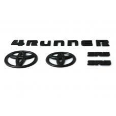 2014-2020 Toyota 4Runner BLACK OUT Emblem Badge Overlay For Front Grill, Rear Trunk and Trunk Lid Letter Set