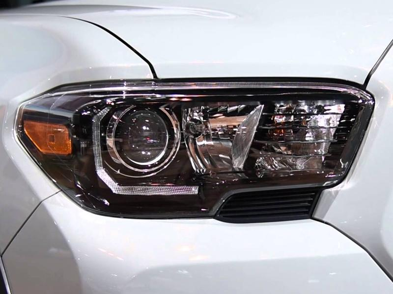 2016 2019 Toyota Tacoma Led Drl Trd Pro Style Depo Black Projector Headlights For With