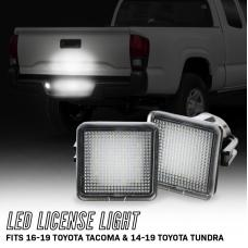 2016-2019 Toyota Tacoma / 2014-2019 Tundra 18 SMD Plug & Play Error Free LED License Plate Light Assembly x2 Lamps A Set