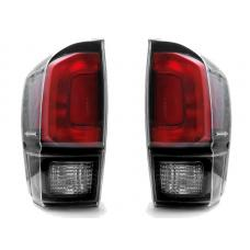 2016-2018 Toyota Tacoma TRD Pro Style DEPO Black/Clear Tail Lights Set