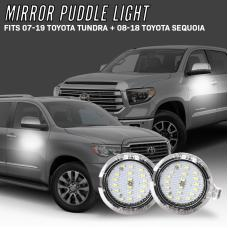 2007-2019 Toyota Tundra / 2008-2018 Sequoia 10x Brighter Side Mirror White LED Puddle Light Courtesy Lamp
