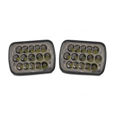 Full LED High and Low Beam 7x6 H6054 Pair Sealed Beam Conversion Headlight