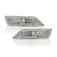 2006-2011 Mercedes CLS Class W219 DEPO Crystal Clear or Smoke Front Bumper Side Marker Light